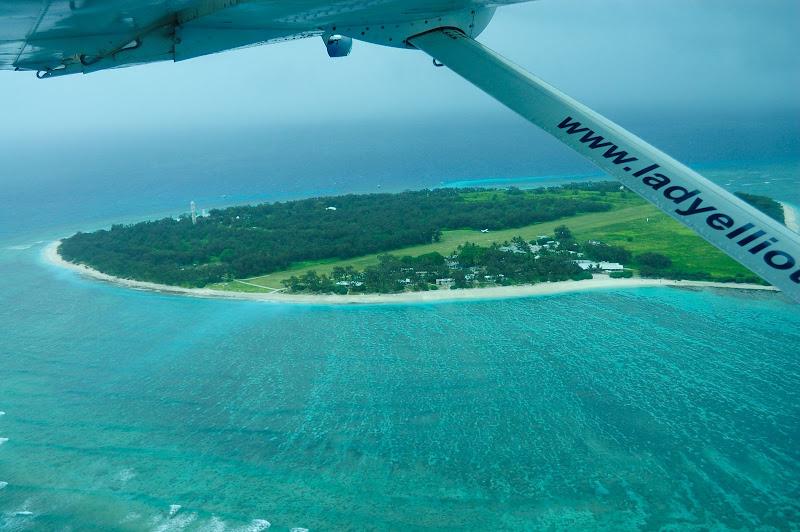 雨のレディエリオット島の写真
