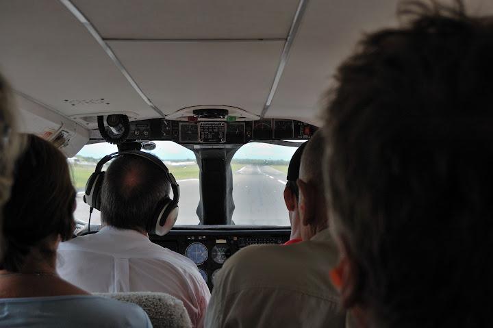 シーエアの機内の写真