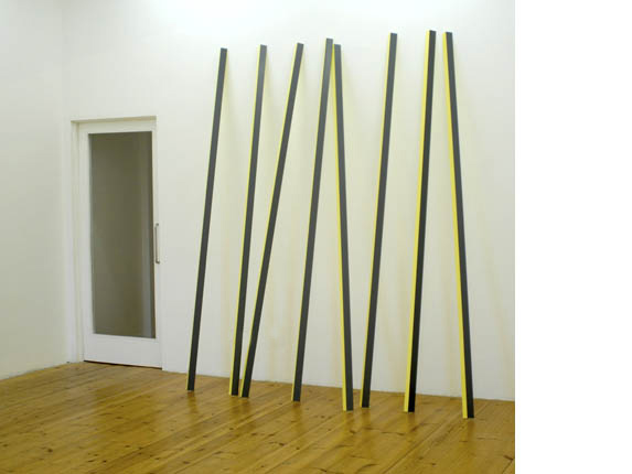 Rana Begum 'No. 161', 2006<br />Paint on powder-coated aluminium<br />Height 250 cm other dimensions variable</a><br /> <a href=