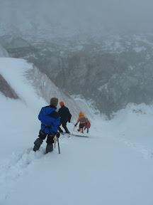 Entraînement sur le glacier