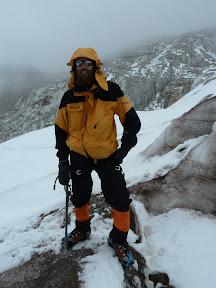 L'alpiniste dans les Andes