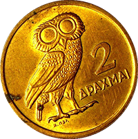 2 Drachmas Gold Coin
