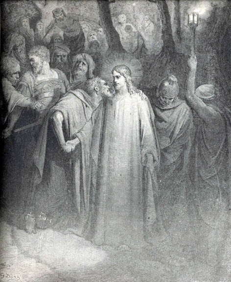 The betrayal of Jesus by His friend, Judas