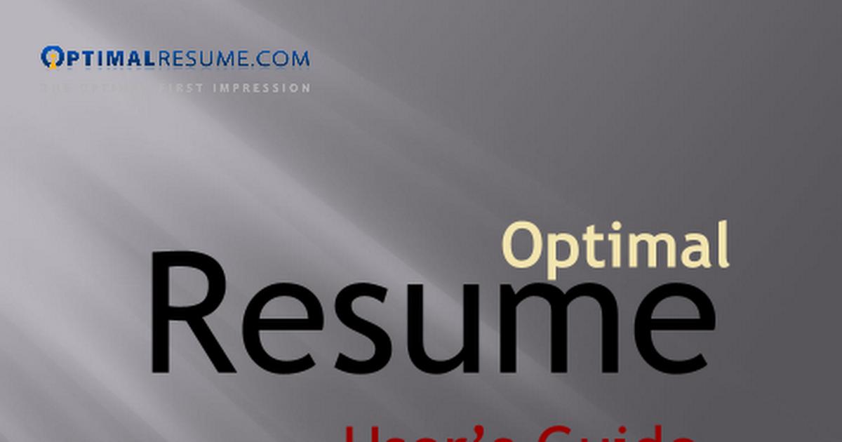 optimal resume resume builder guideppt google slides - Optimal Resume Ou