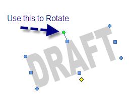 Rotate WordArt - MS Word