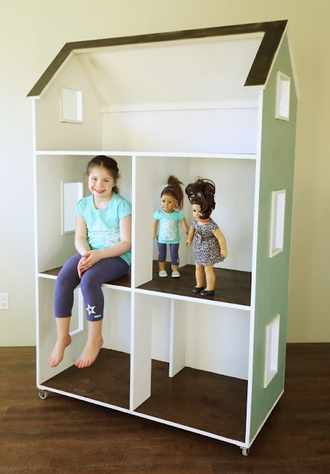 "Do It Yourself Home Design: Three Story American Girl Or 18"" Dollhouse"