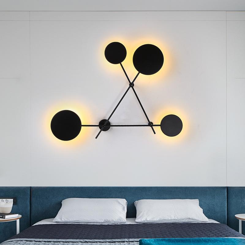 Modern Bedroom Lighting with Round Geometrics