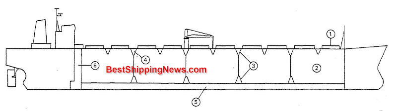 Bulk%20carrier Cargo ship: general structure, equipment and arrangement ship types