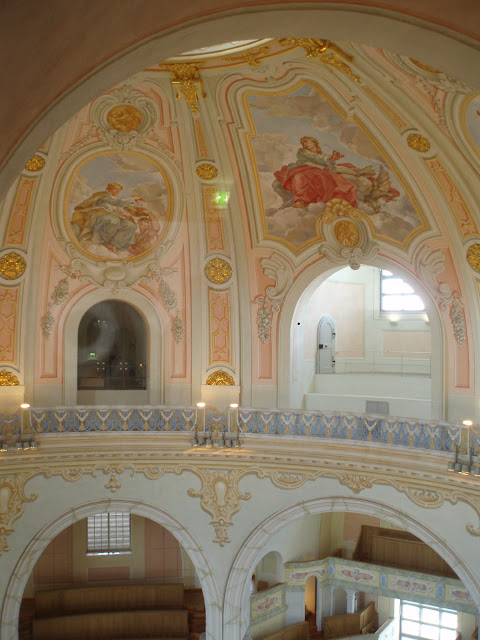 Interior artwork in the Dome of the Frauenkirche, Dresden