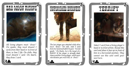 BANG! card game fonts