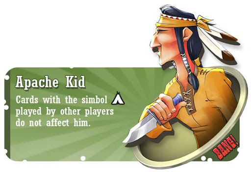 Apache Kid BANG! card game character