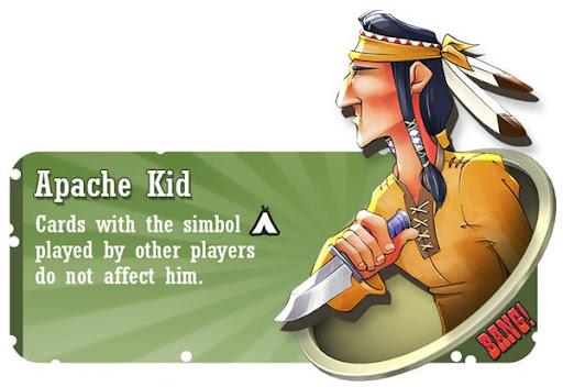 Apache Kid BANG! card game character