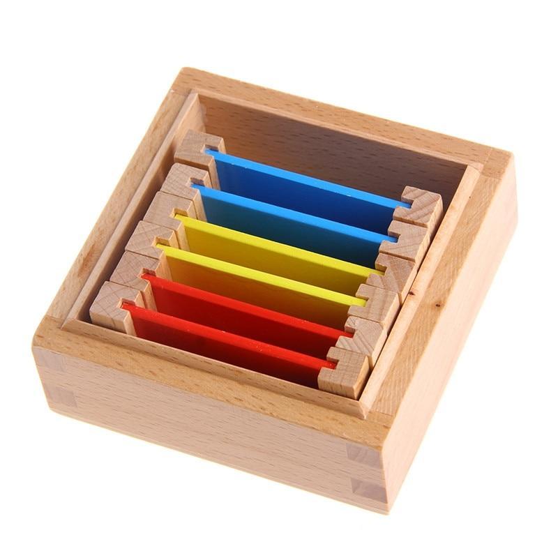 boite de tri couleur bleu rouge jaune paire activité montessori jeu bois