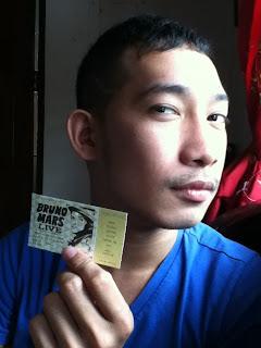 Day 16: Bruno Mars Ticket
