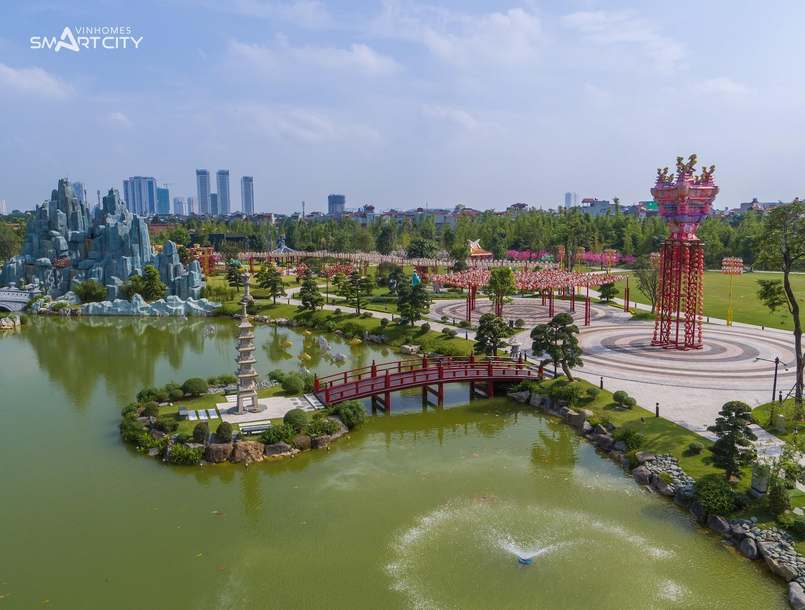 Công viên vườn Nhật tại Vinhomes Tây Mỗ Đại Mỗ