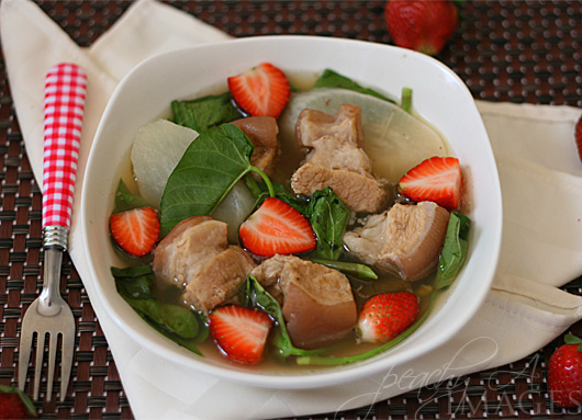 Pork Sinigang with Strawberry | www.thepeachkitchen.com