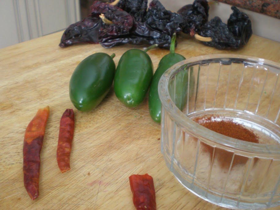 I used a variety of chilies for different flavour and levels of heat