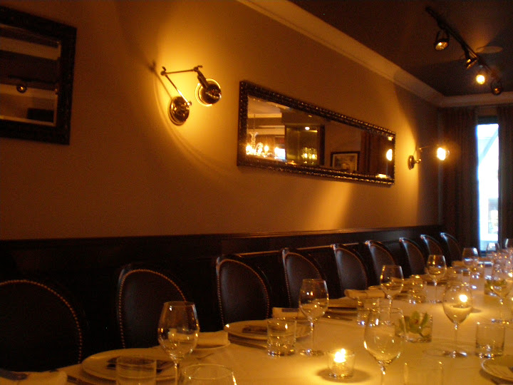 The private dining space upstairs at Malena