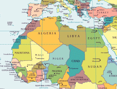 map of north africa southwest asia. +north+africa+map+blank