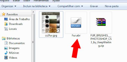 arquivo de pincel Photoshop