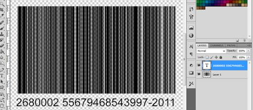 Números aleatórios inseridos, para complementar o código de barras