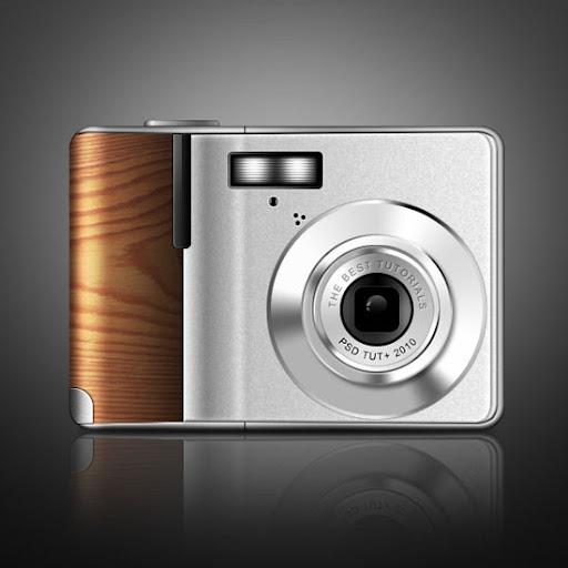 Tutorial desenhar uma câmera digital com detalhes em madeira