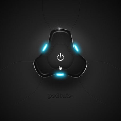 Tutorial desenhar um botão Hi-Tech