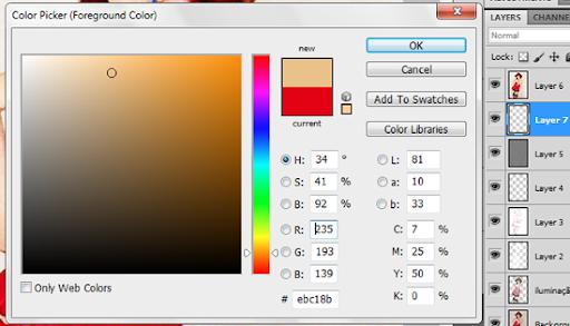Escolhendo a cor para envelhecer o papel