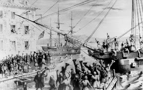 "Portrait of the 1773 ""Boston Tea Party"""
