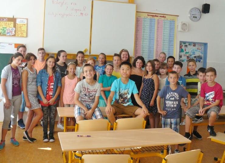 Poprvé v nové třídě - září 2015