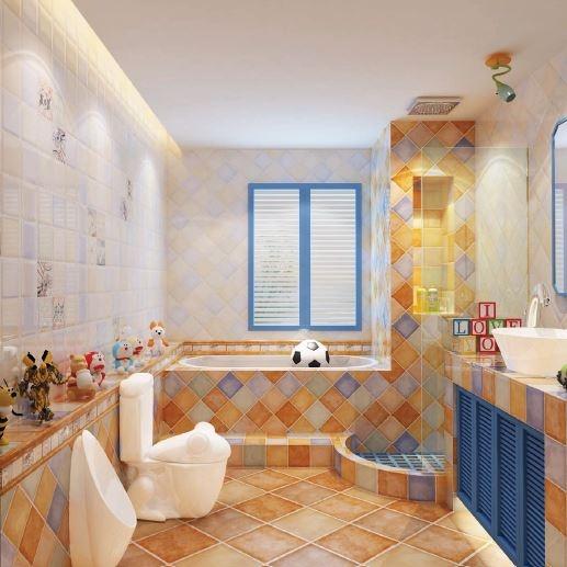 Gạch ốp tường cho nhà tắm nổi bật