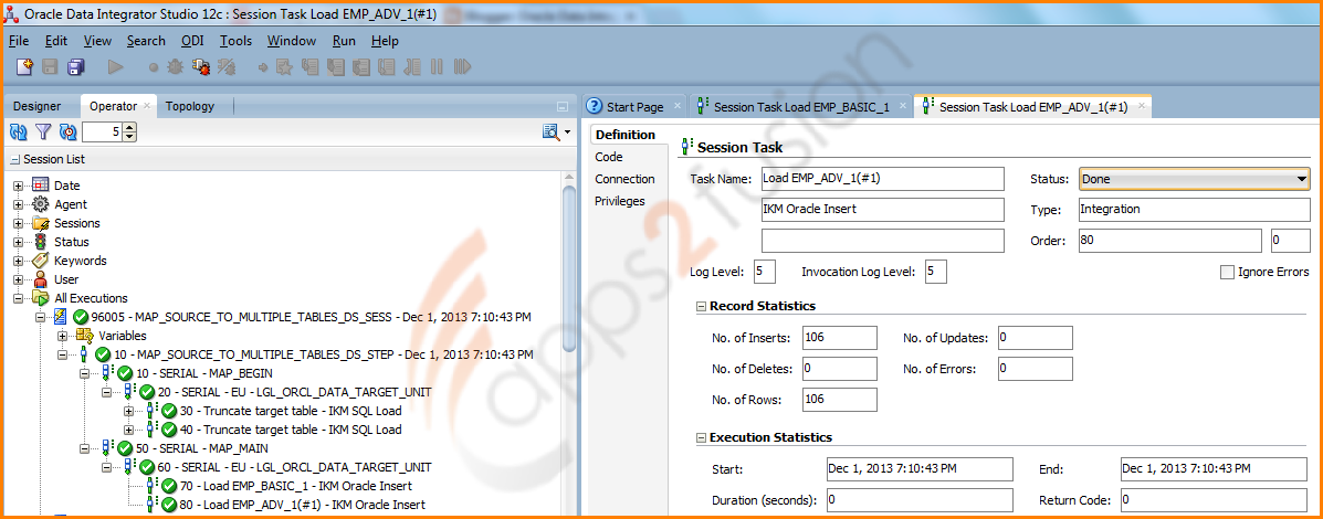 Loading Multiple target tables in single interface (mapping) in ODI