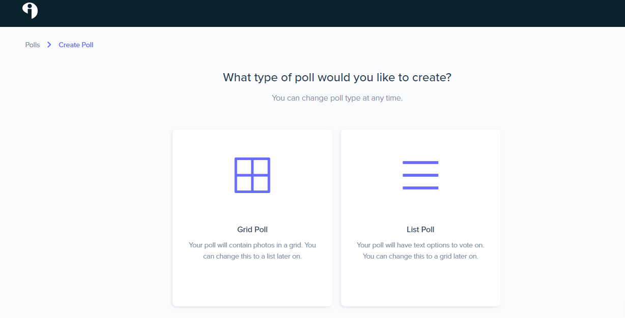 types of polls on Interact