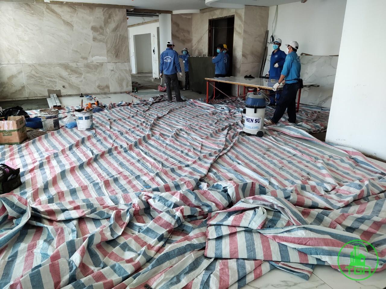 hiện trang khi sửa chữa chung cư