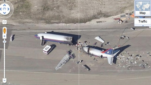 accidente avion google maps