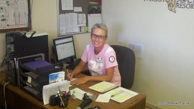 Cynthia workamping!