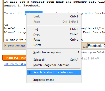 It also add a toolbar icon near the address bar.