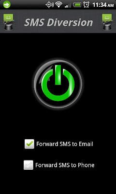 SMS Diversion Is A SMS Forwarding Tool For Android