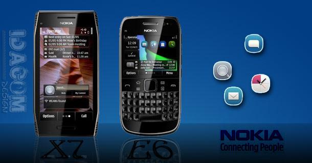 Nokia X7 E6 symbian anna gallerie gadget echo