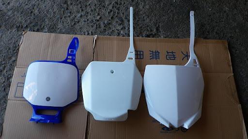 左からTTR・DRZ150・YZ250