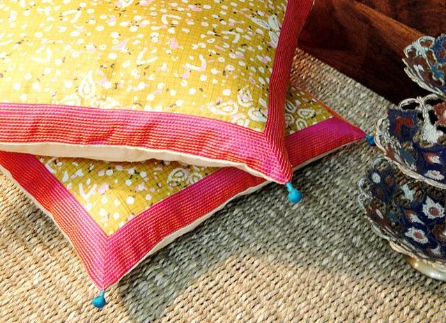 Handmade Yellow Cushion