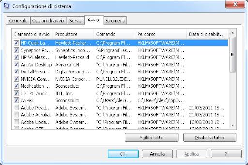 Ridurre i tempi di avvio di Windows con msconfig