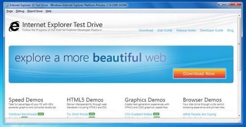 Internet Explorer 10, download disponibile per la Platform Preview 1