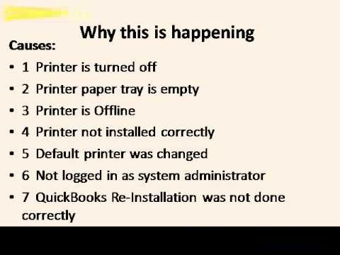Unable to Print from Quickbooks