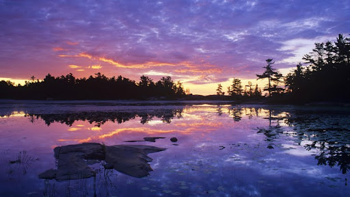 Lighthouse Pond at Sunrise, Kilarney Provincial Park, Ontario - Copy.jpg