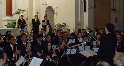 Nuestra banda en la Iglesia de Santiago de Córdoba, durante la actuación de la Banda Municipal de Música de Pozoblanco, encuadrada en el  III Ciclo de Conciertos en las Iglesias Fernandinas de Córdoba * www.bandamunicipaldepozoblanco.blogspot.com