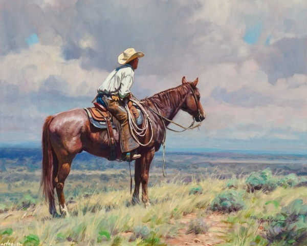 Por amor al arte viejo oeste americano en la pinturas de martin grelle - Cuadros de vacas ...