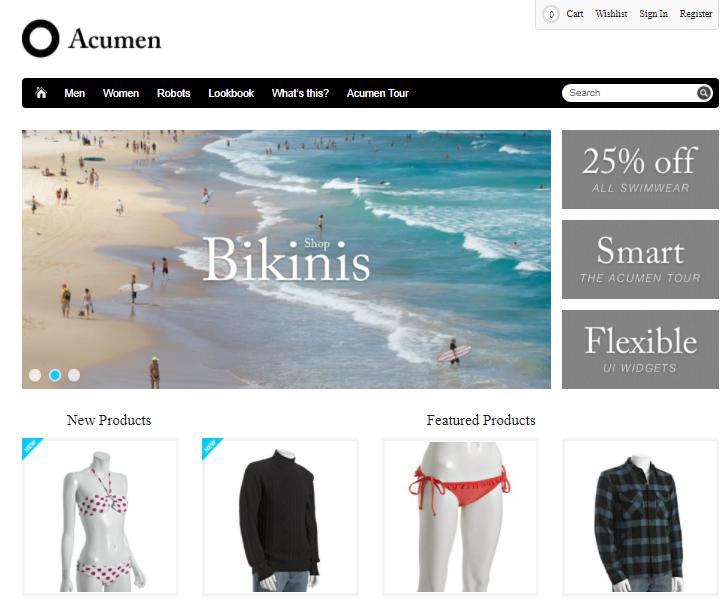 Acumen-Minimal magento theme