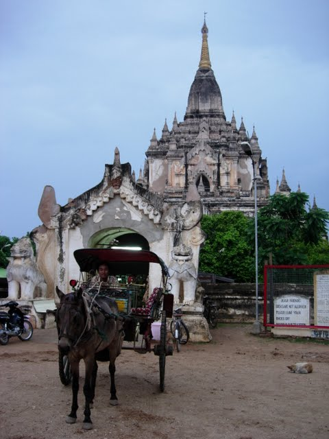 A horse cart driver in Bagan