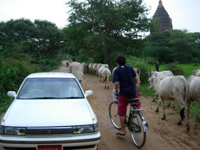 A hired taxi in Bagan